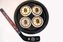 Bruins Hockey Cookies
