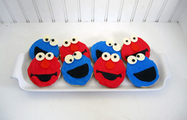 Sesame Street Cookie Monster Elmo Cookies
